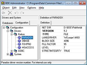 Paradox and BDE tools